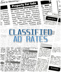 Classifieds Ad Rates