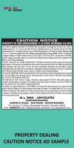 property-dealing-caution-notice-ad-sample