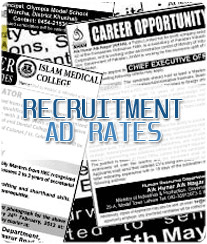 Recruitments Ad Rates