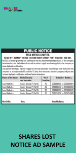 shares-lost-notice-ad-sample-1