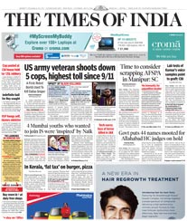 Times of India Display Ad Rates Meerut