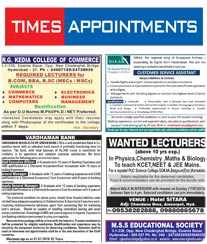 Times of India Times Appointments – Times of India
