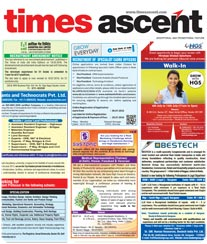 Times Ascent Advertisement Rate Card Baroda
