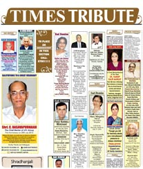 Times of India Obituary Ad Rates Hubli