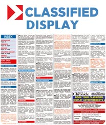 Deccan Chronicle Classifieds Display Ad Rates