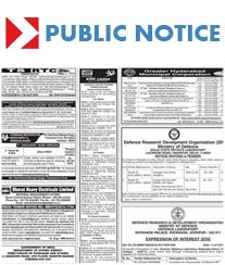 Public Notice Ad in Deccan Chronicle Cost