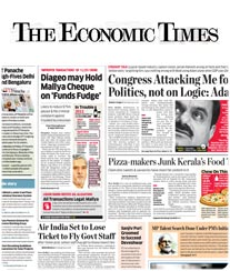 Economic Times Display Advertisement Rate Card Jaipur
