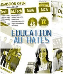 Daily Hindi Milap Education Ad Rates
