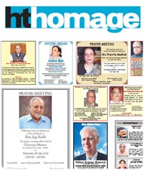 HT Homage Obituary Ad Rates