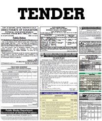 HT Tender Notice Ad Rates
