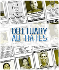 Samaja Obituary Ad Rates
