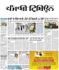 Punjabi Tribune Display Ad Rate Card Chandigarh