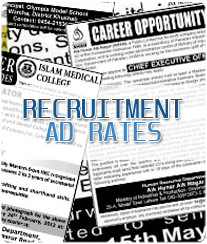 Daily Hindi Milap Recruitment Ad Rates