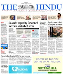 The Hindu Display Ad Rates