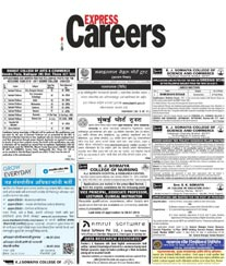 The Indian Express Recruitment Ad Rates