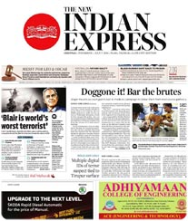 The New indian Express Display Ad Rates
