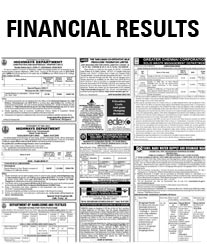 The New Indian Express Financial Results Rate Card
